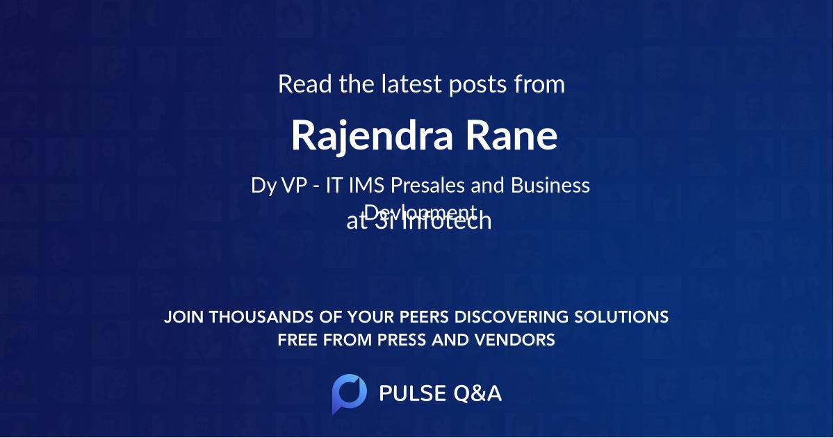 Rajendra Rane