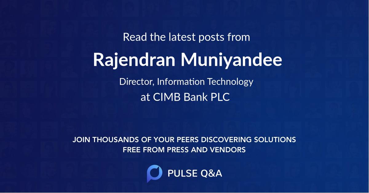 Rajendran Muniyandee