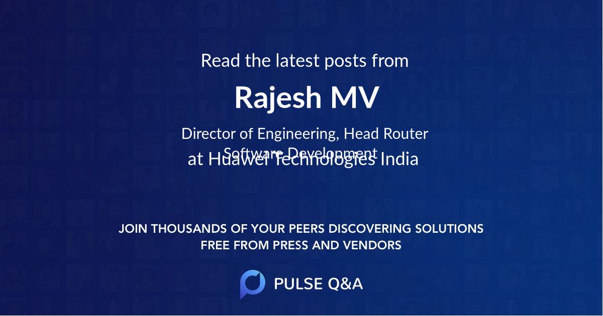Rajesh M.V.