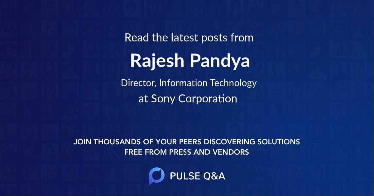 Rajesh Pandya