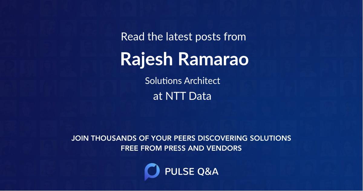 Rajesh Ramarao