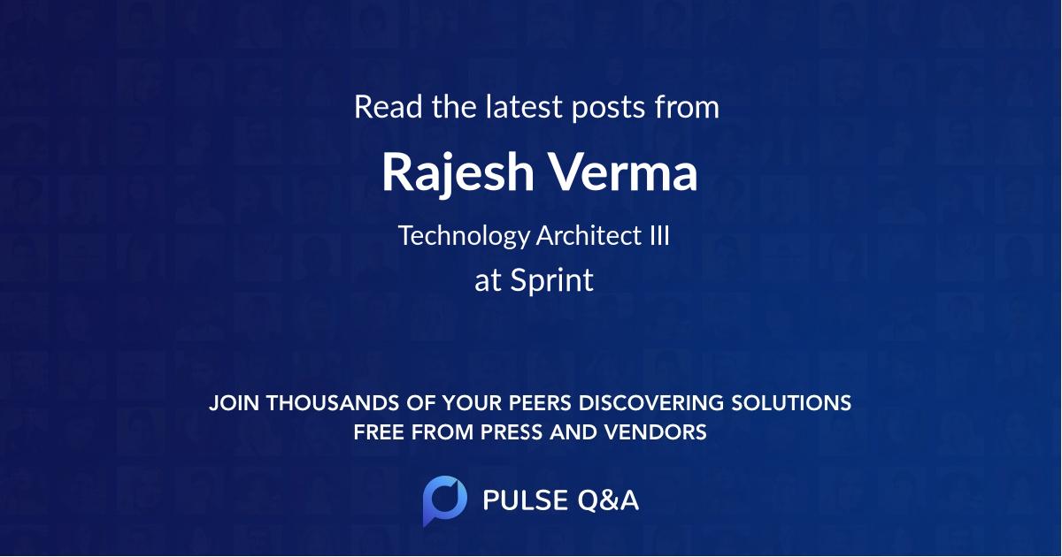 Rajesh Verma
