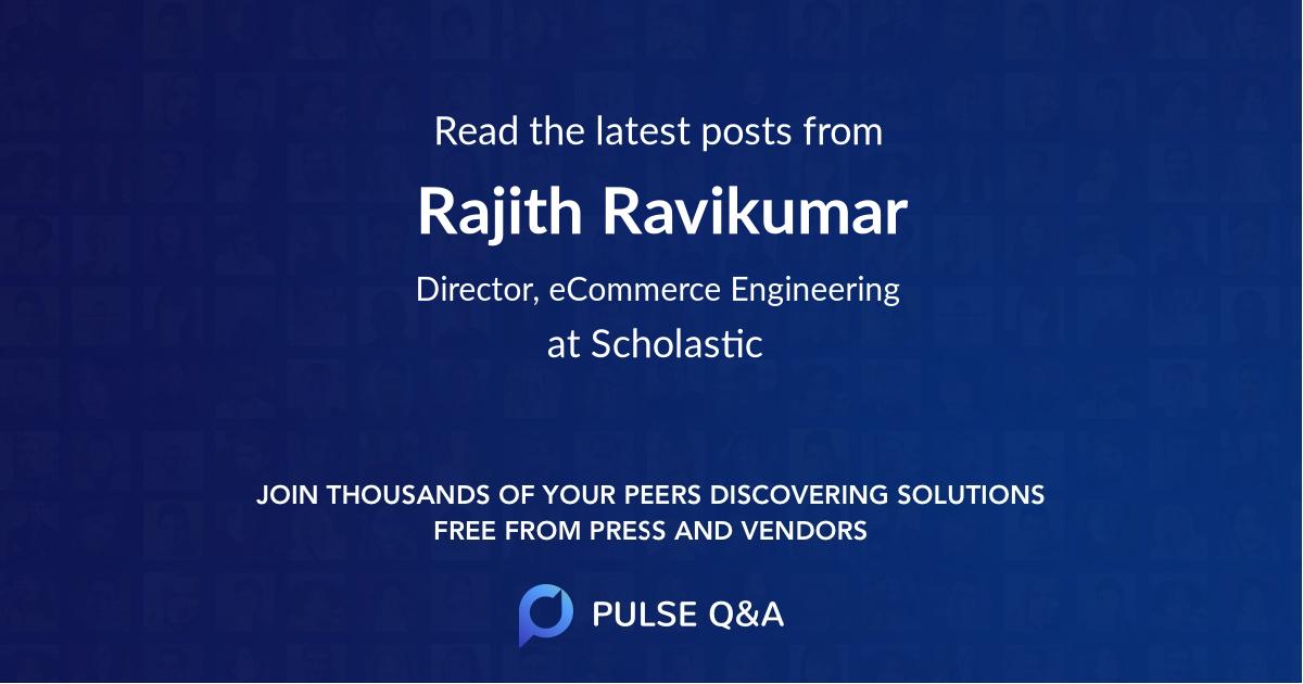 Rajith Ravikumar