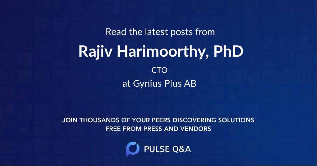 Rajiv Harimoorthy, PhD