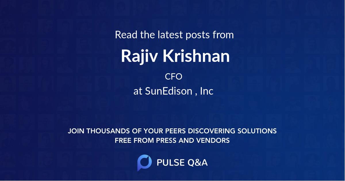 Rajiv Krishnan