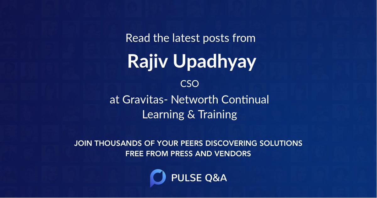 Rajiv Upadhyay