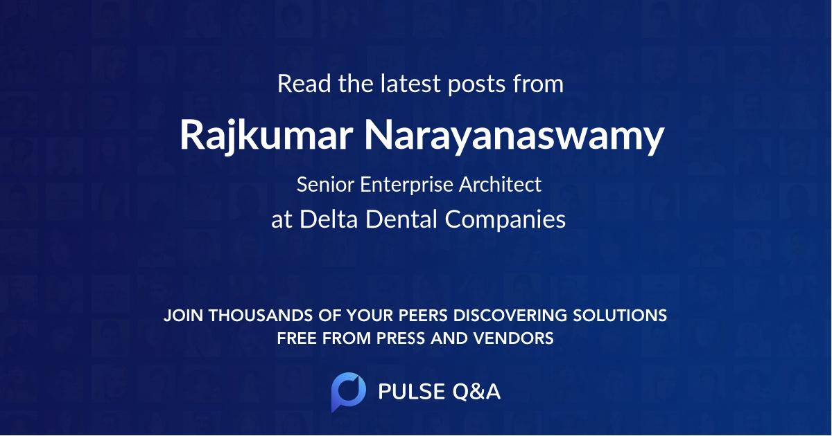 Rajkumar Narayanaswamy