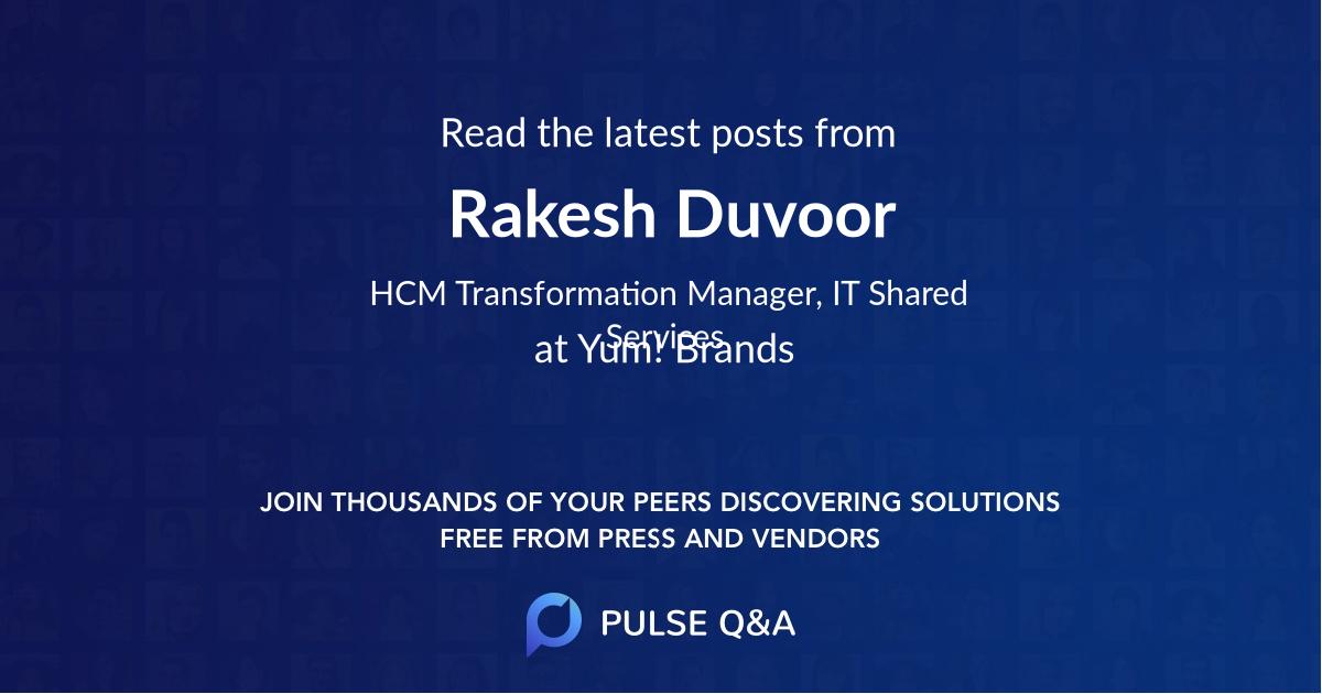 Rakesh Duvoor