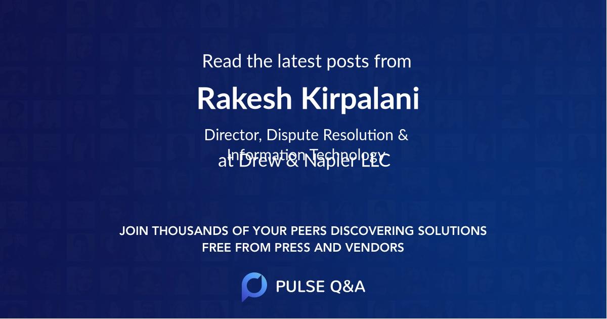 Rakesh Kirpalani