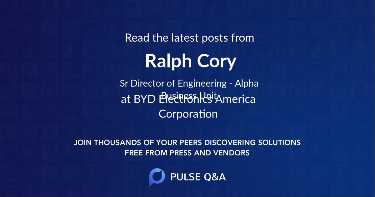 Ralph Cory