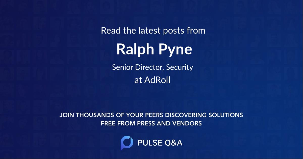 Ralph Pyne