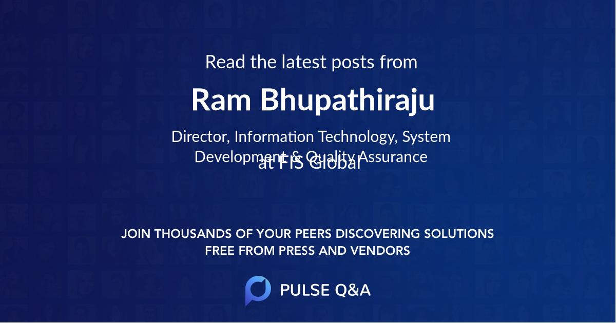 Ram Bhupathiraju