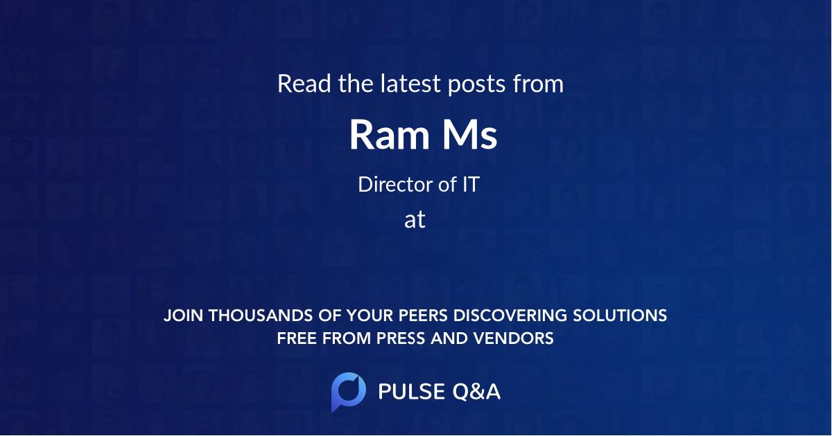 Ram Ms