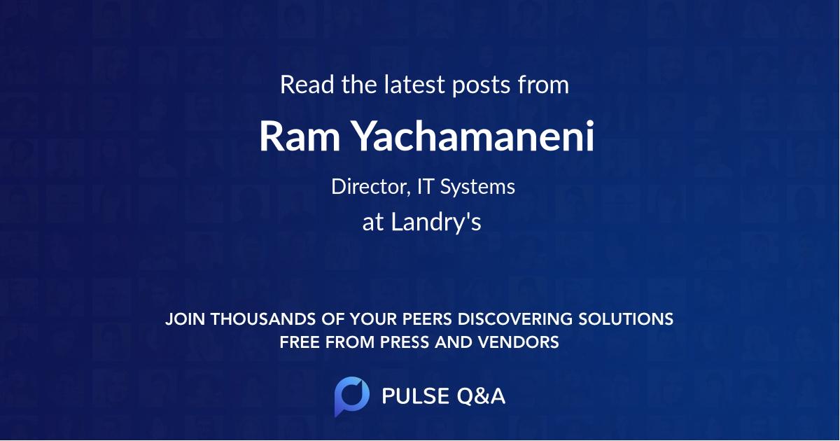 Ram Yachamaneni