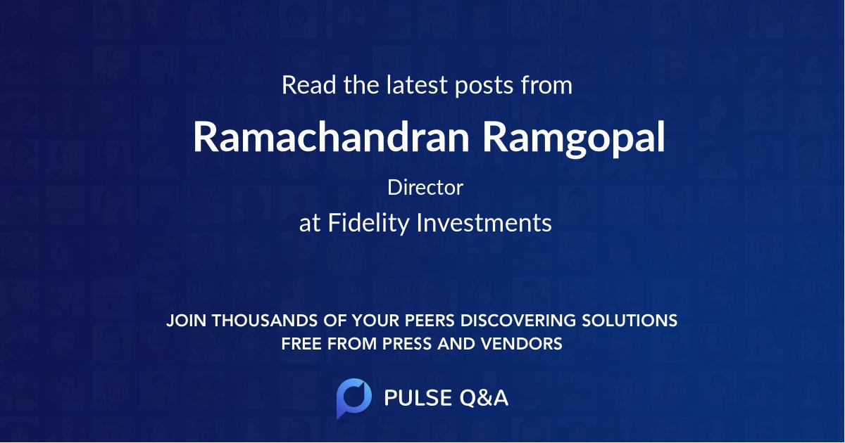 Ramachandran Ramgopal