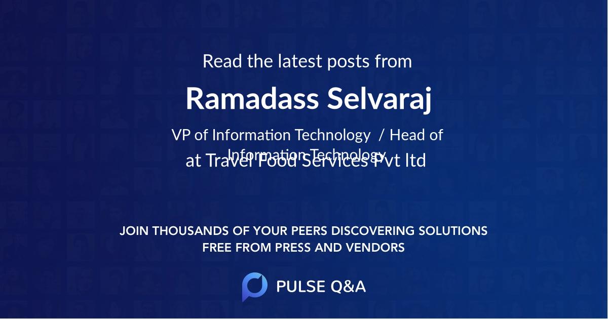 Ramadass Selvaraj