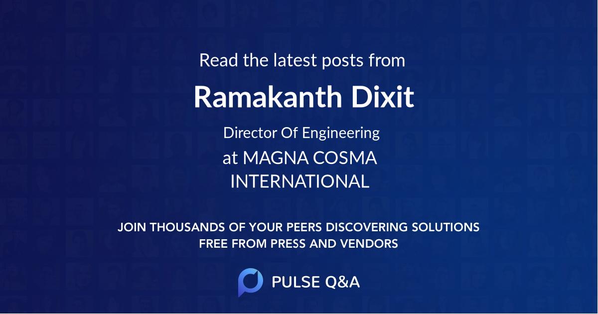 Ramakanth Dixit