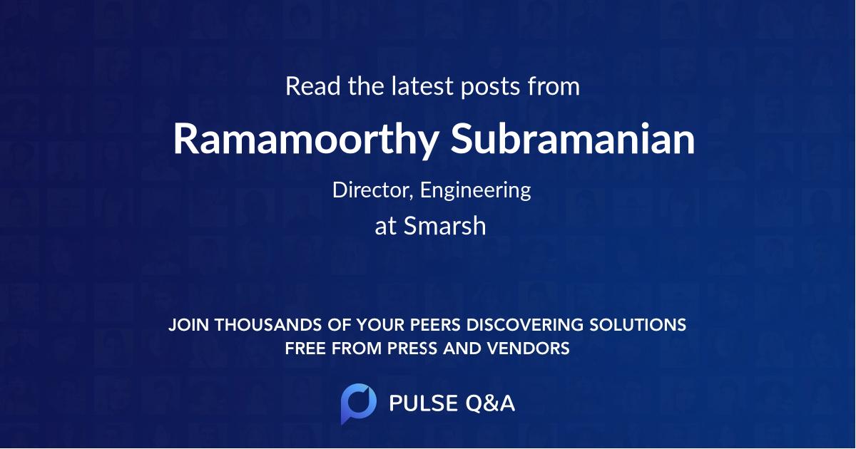 Ramamoorthy Subramanian