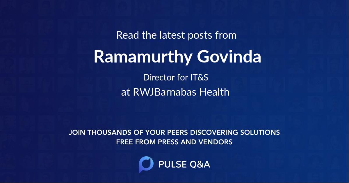 Ramamurthy Govinda