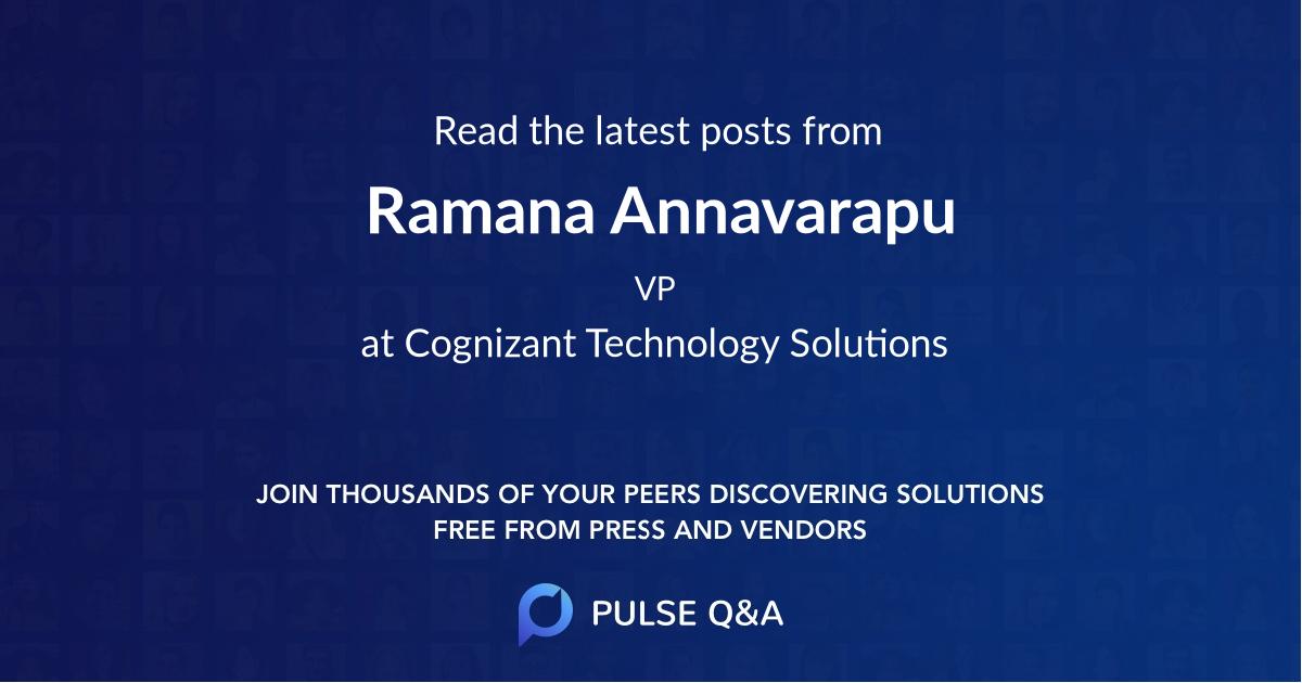 Ramana Annavarapu