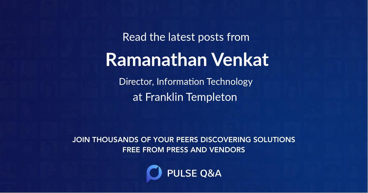 Ramanathan Venkat