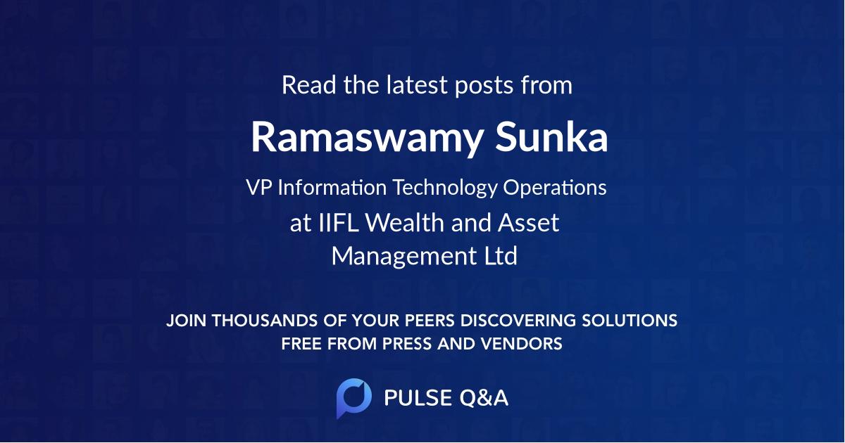 Ramaswamy Sunka