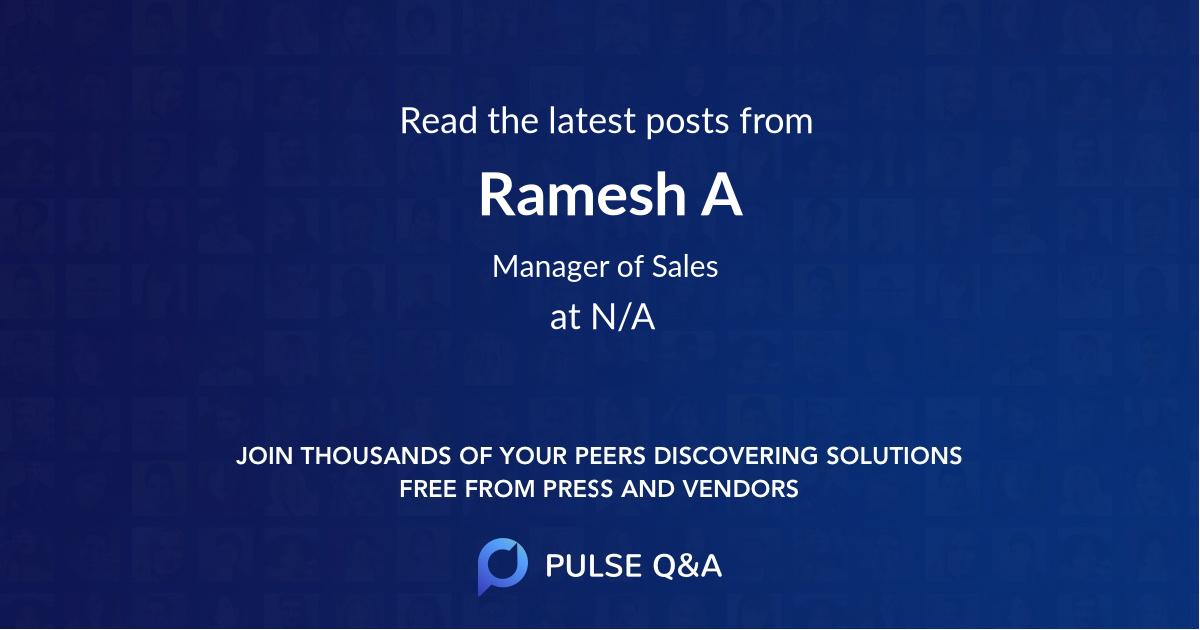 Ramesh A