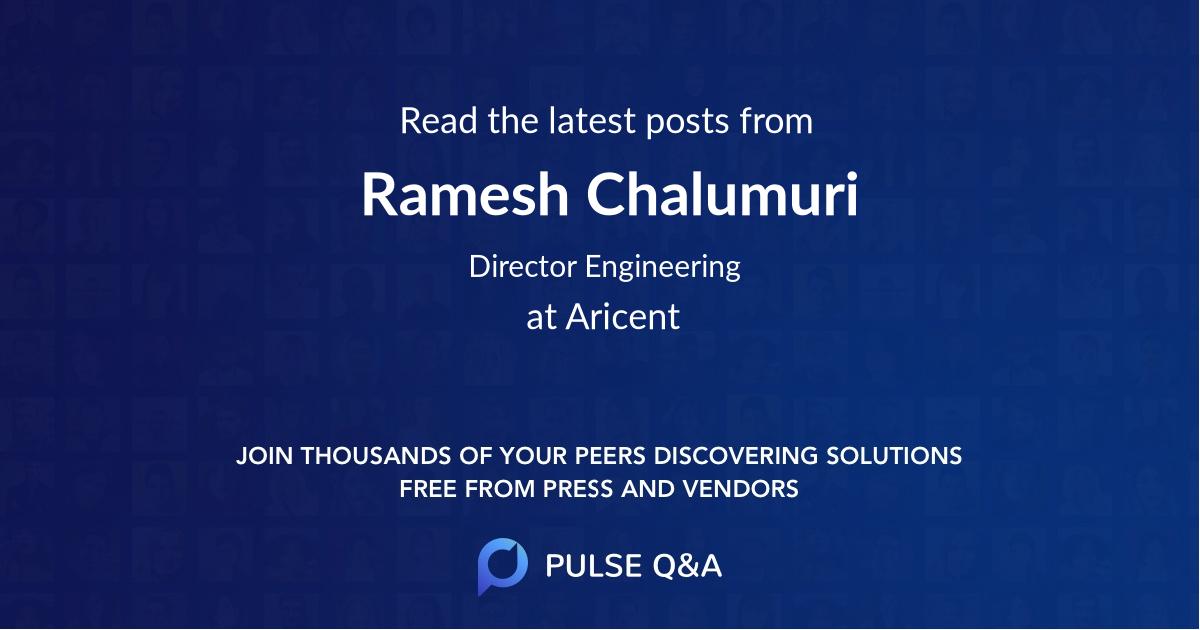 Ramesh Chalumuri