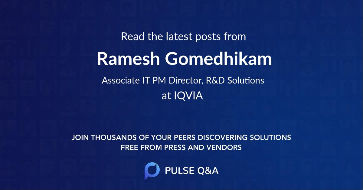 Ramesh Gomedhikam