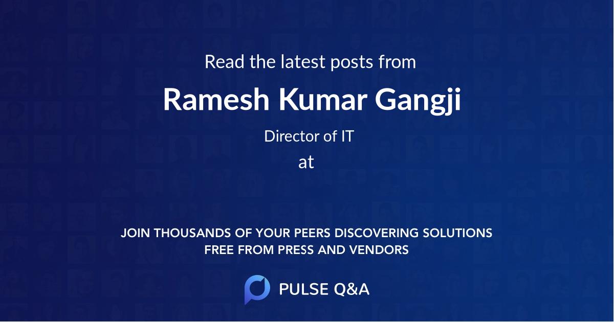 Ramesh Kumar Gangji
