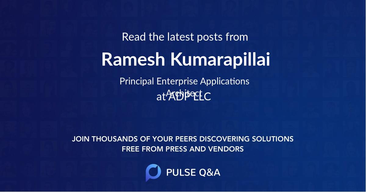 Ramesh Kumarapillai