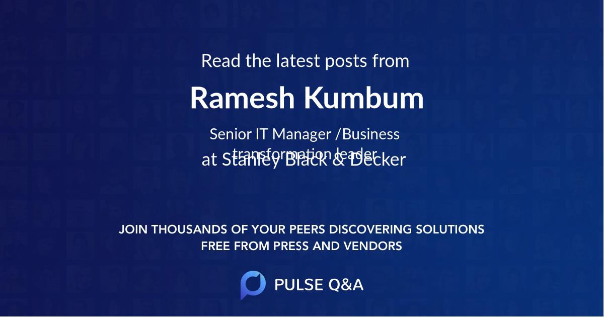 Ramesh Kumbum