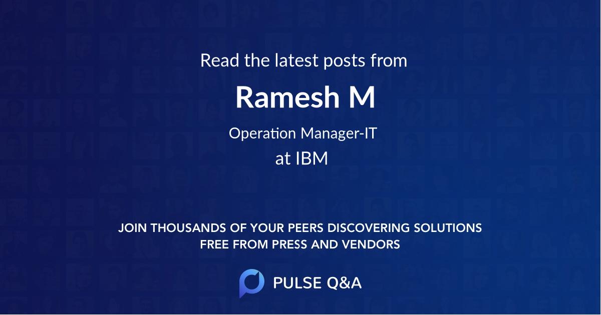 Ramesh M