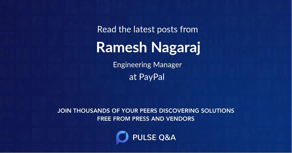 Ramesh Nagaraj