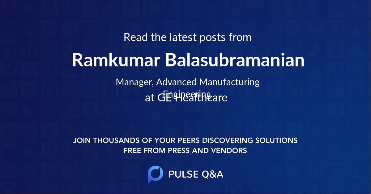 Ramkumar Balasubramanian