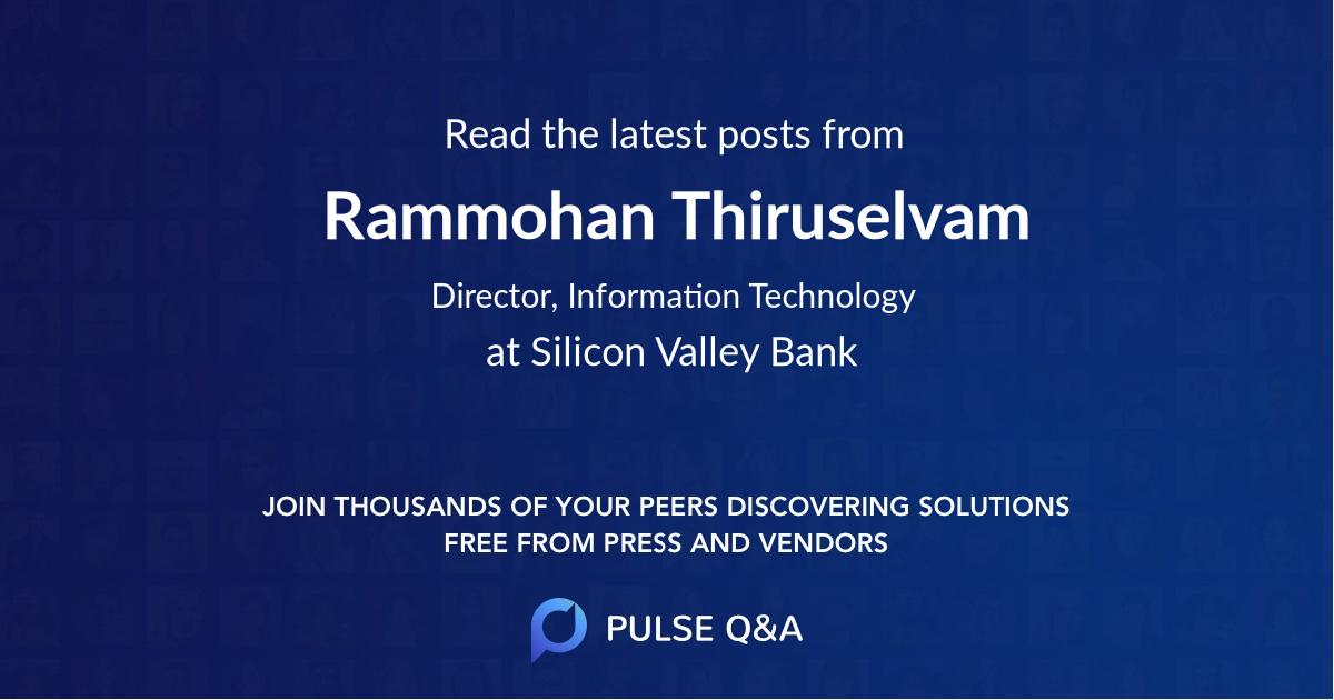 Rammohan Thiruselvam