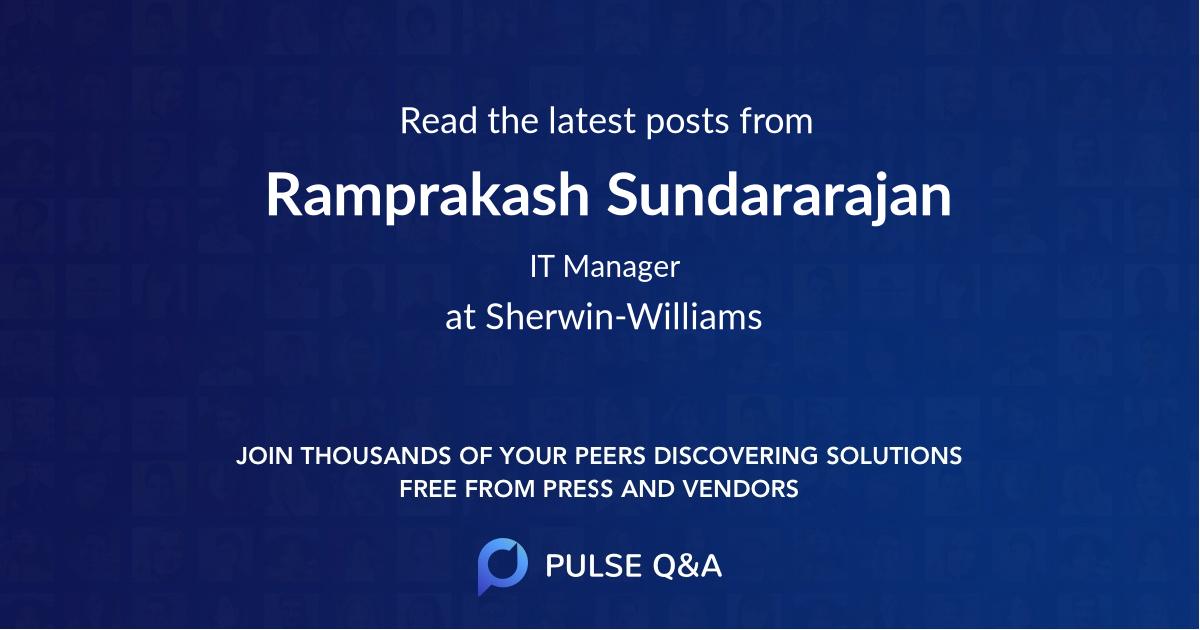 Ramprakash Sundararajan