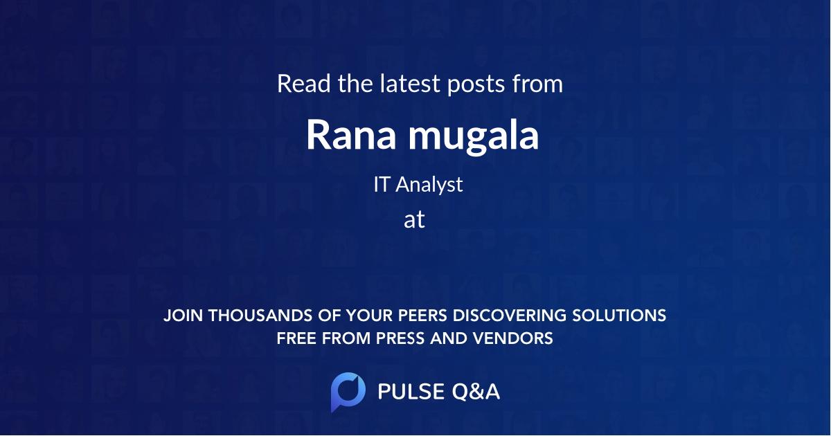 Rana mugala