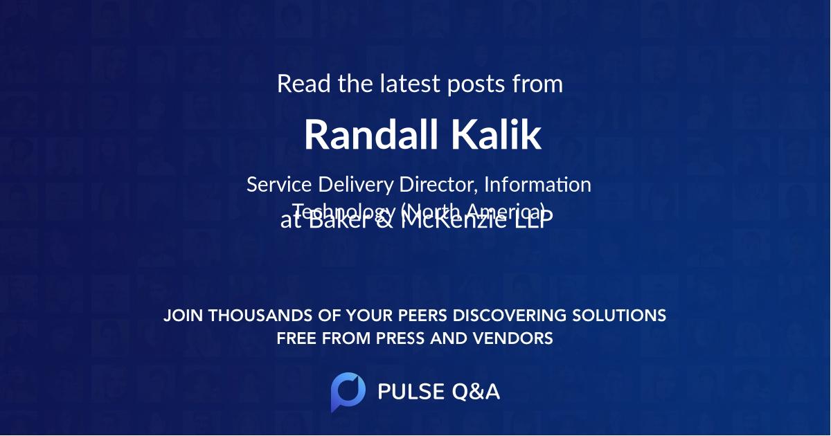 Randall Kalik