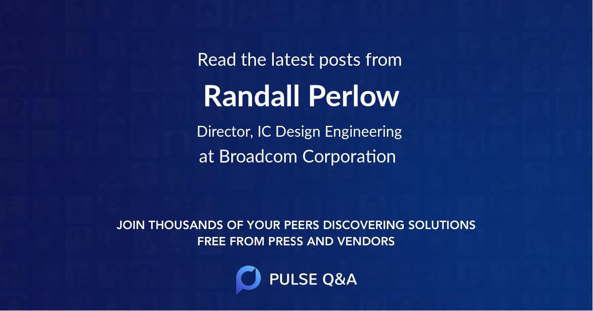 Randall Perlow