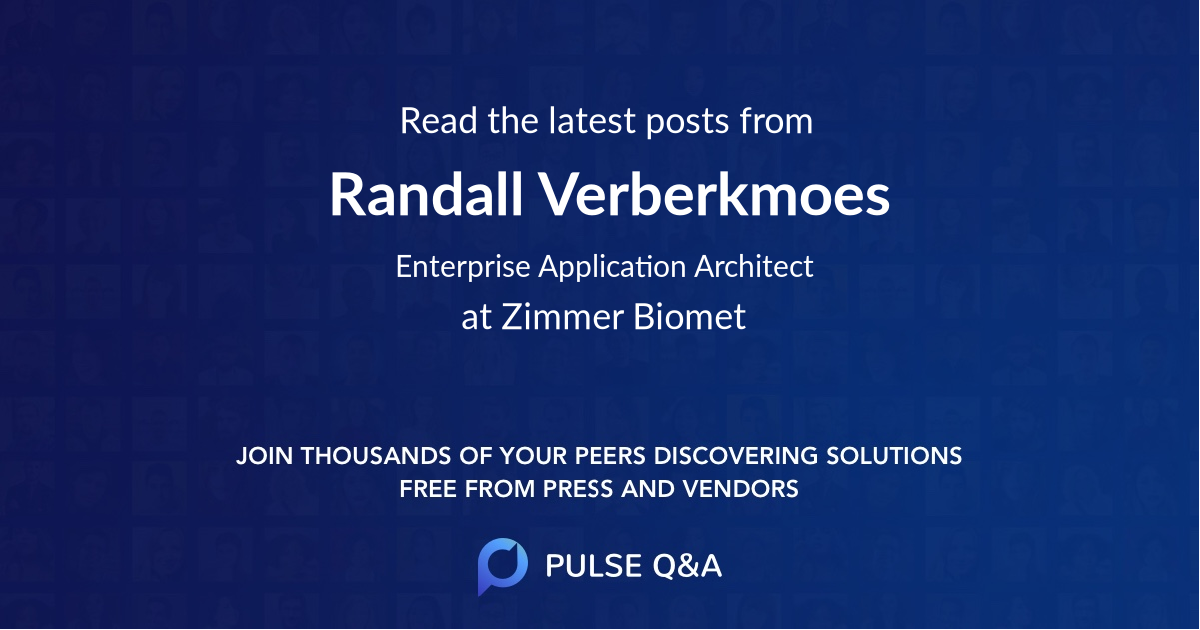 Randall Verberkmoes