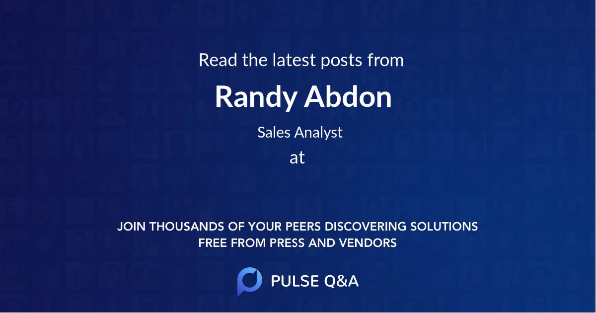 Randy Abdon