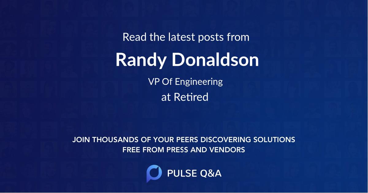 Randy Donaldson