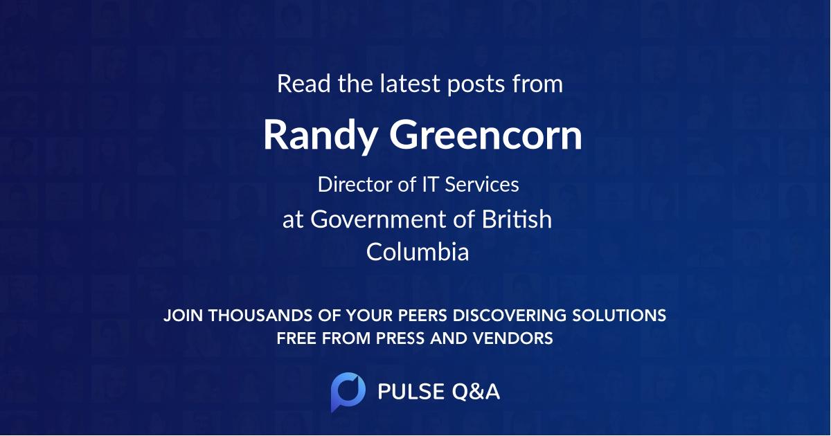Randy Greencorn