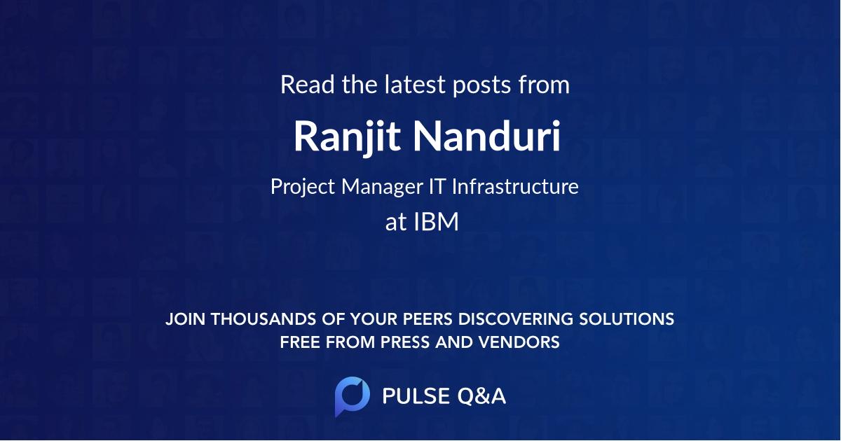 Ranjit Nanduri