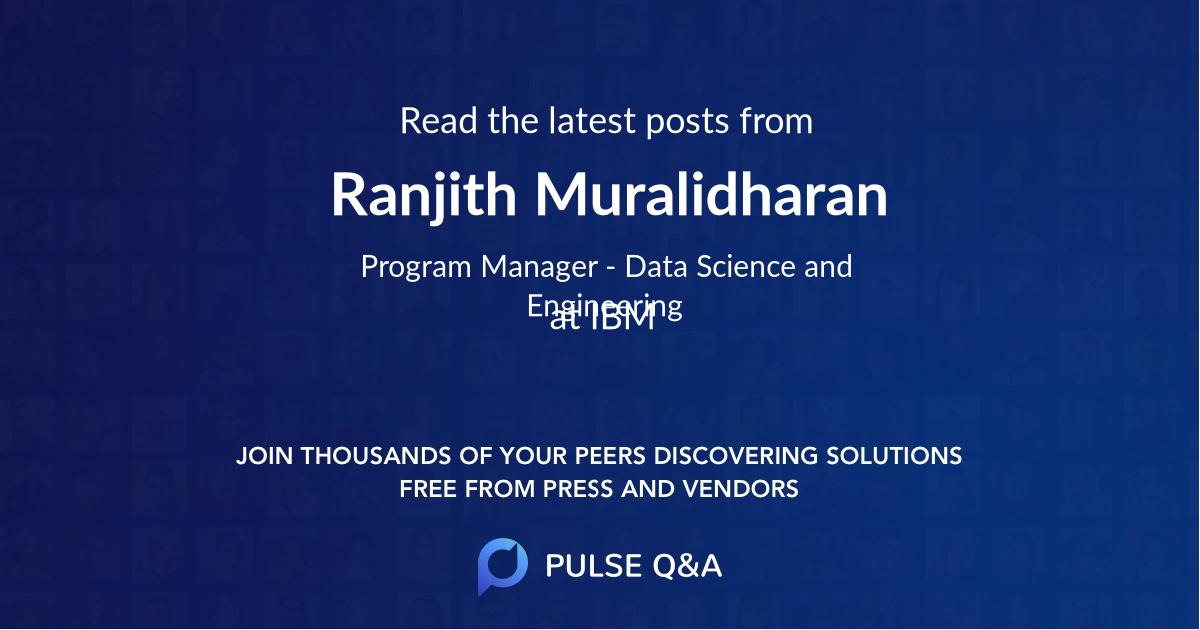 Ranjith Muralidharan