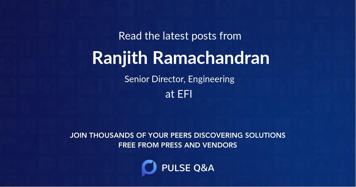 Ranjith Ramachandran