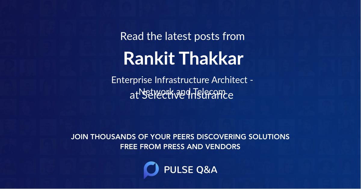 Rankit Thakkar