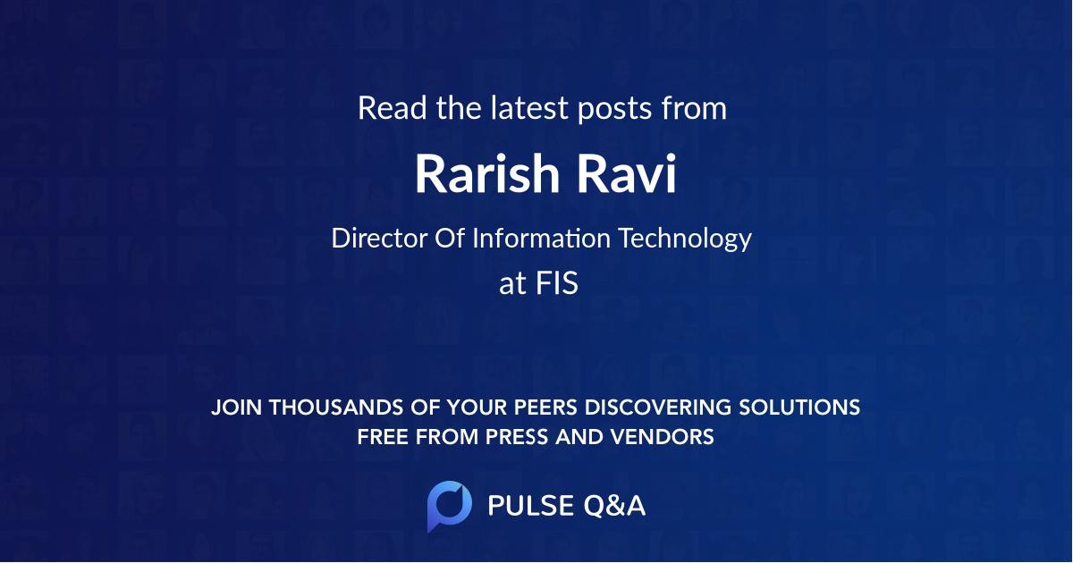 Rarish Ravi
