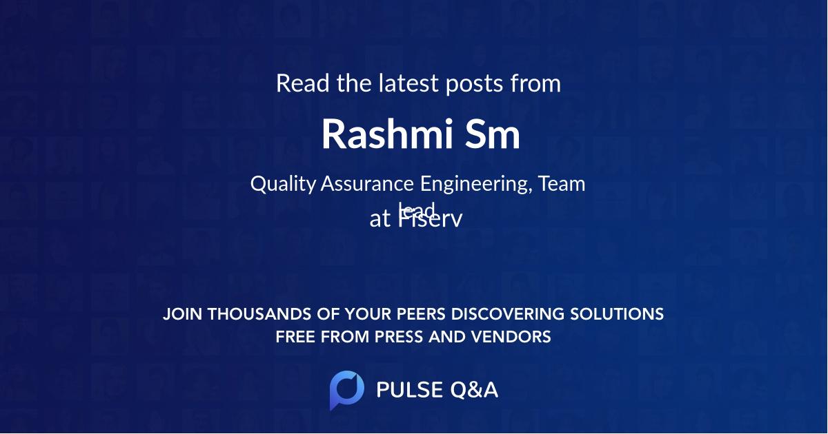 Rashmi Sm